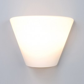 Energy Saving White Opal Wall Scone Light (PW4026A)